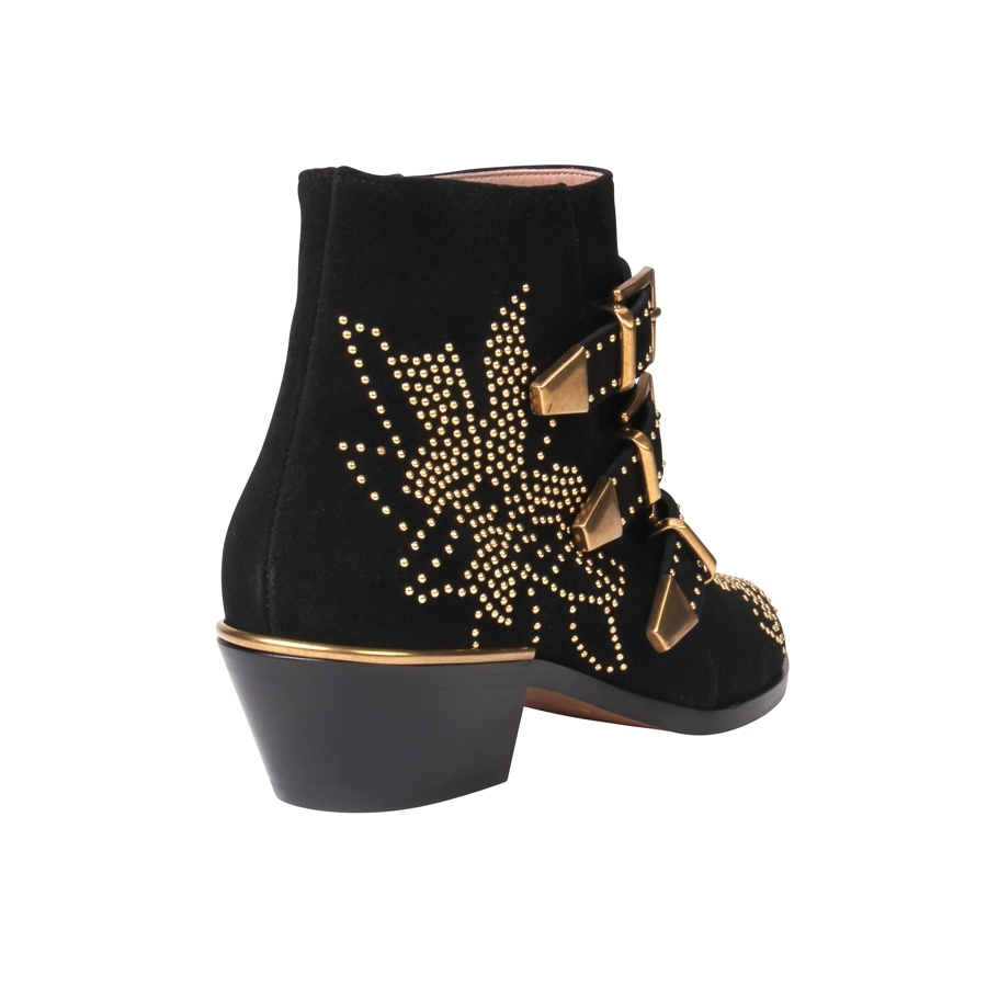 Chloé suzanna studded suede ankle boots