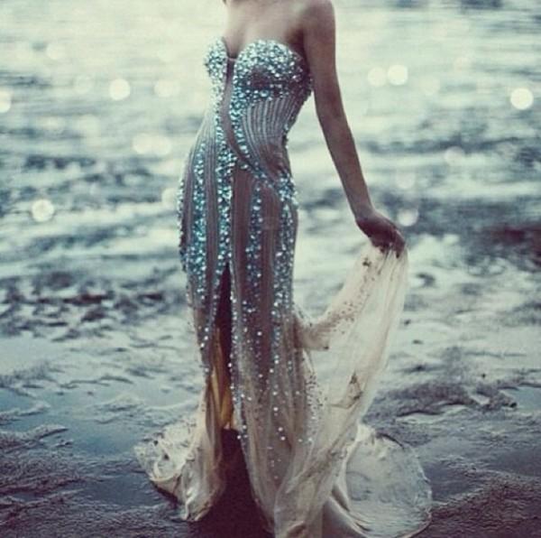 dress prom dress prom gown sparkels flowy