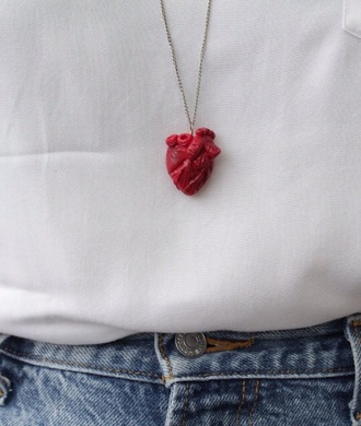 jewels necklace heart red