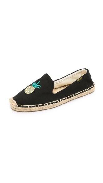 pineapple espadrilles black shoes