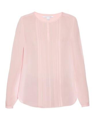 blouse light pink light pink top
