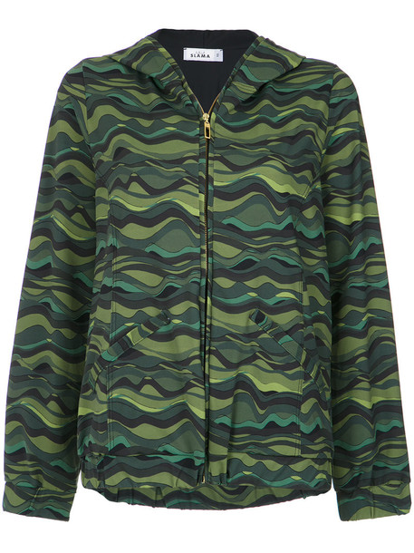 AMIR SLAMA hoodie women print green sweater