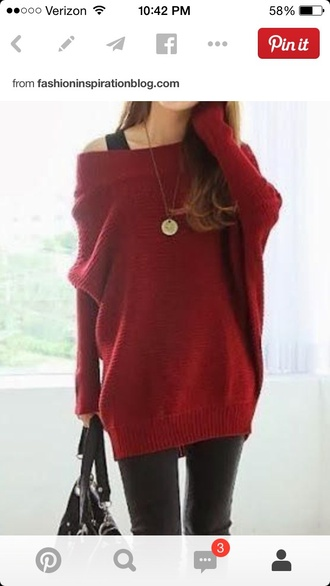 blouse red sweater