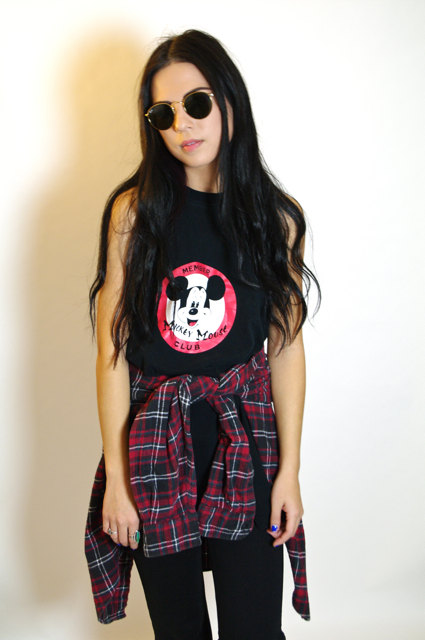 Vintage Mickey Mouse Club Muscle Cut Tunic by AndJustySaid on Etsy