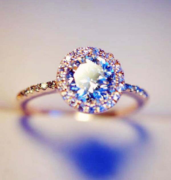 Halo faux diamond engagement ring · love, fashion struck ·