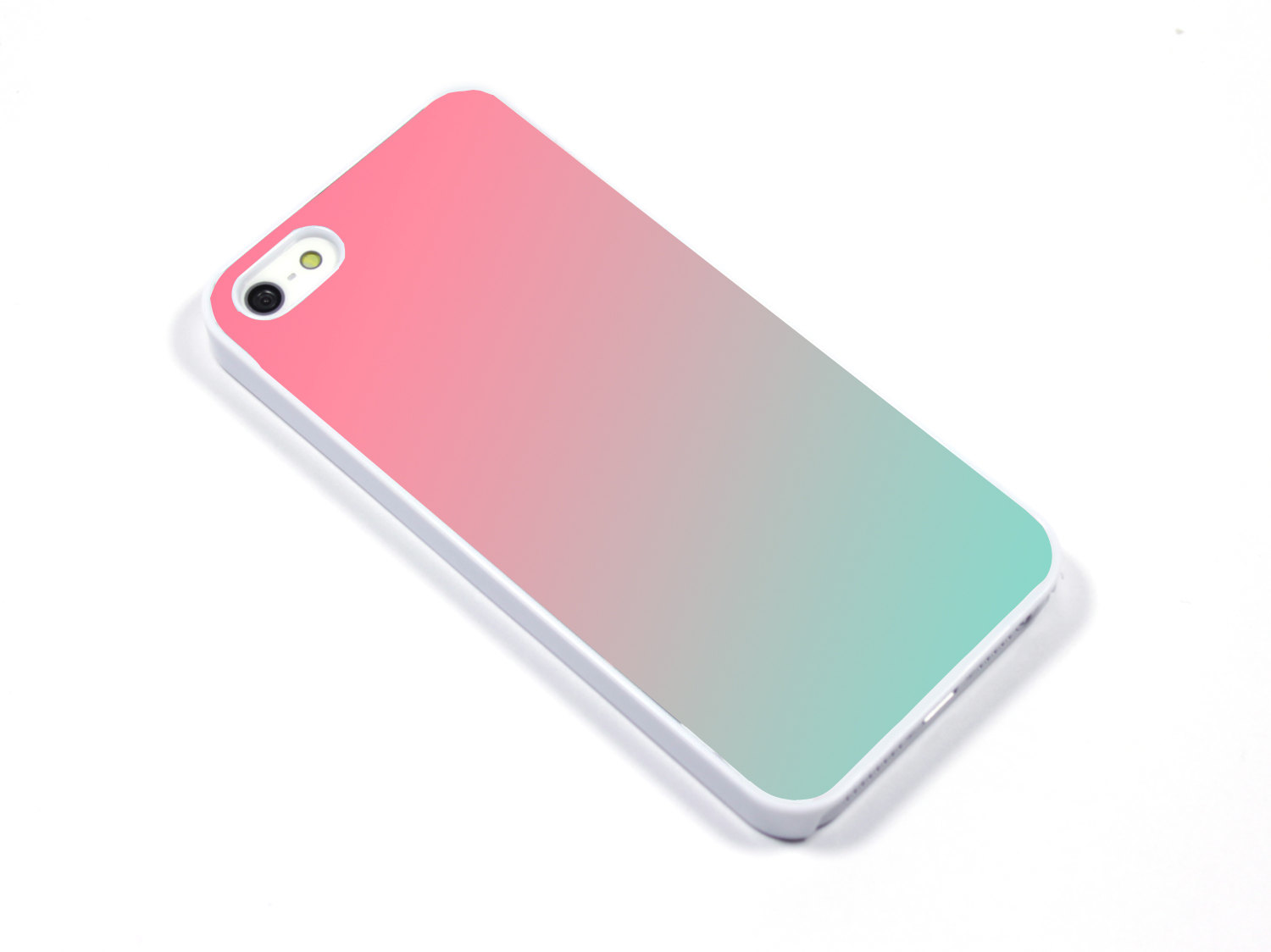 iPhone Case iPhone 5 iPhone 5s iPhone 5C iphone 4 Samsung Galaxy S3 S4 - Ombre pink pool mint - p17