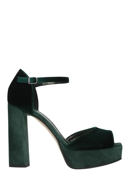 Marc Ellis sandals velvet green shoes