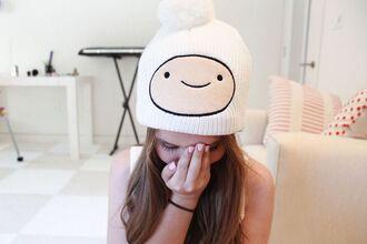 hat finn the human adventure time beanie hair accessory
