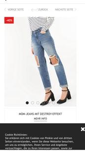 jeans,mom jeans,pimkie