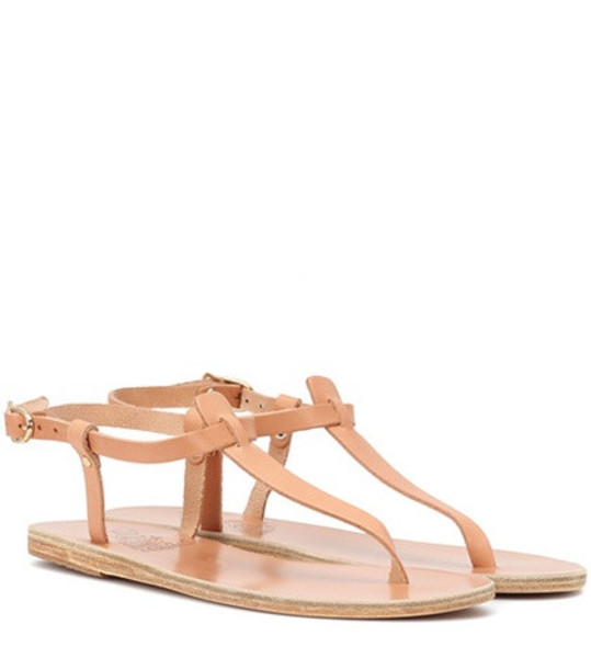Ancient Greek Sandals Lito leather sandals in brown
