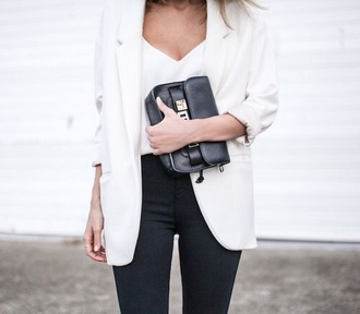 jacket white jacket oversize oversize white blazer white blazer top