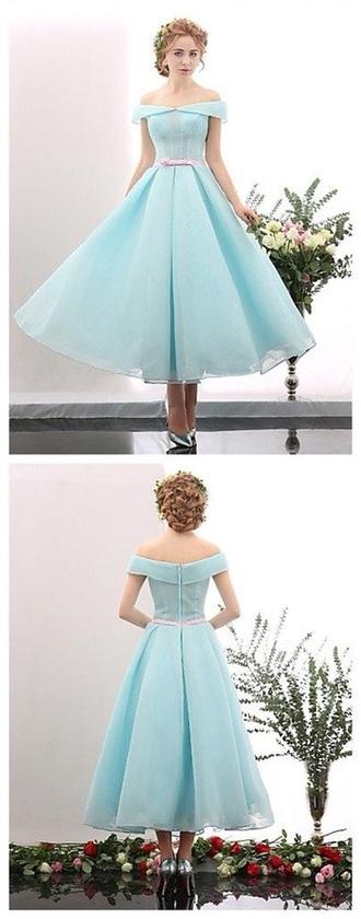 dress mint blue light blue gown fancy mesh pink belt mesh dress