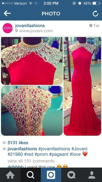 dress red dress jovani