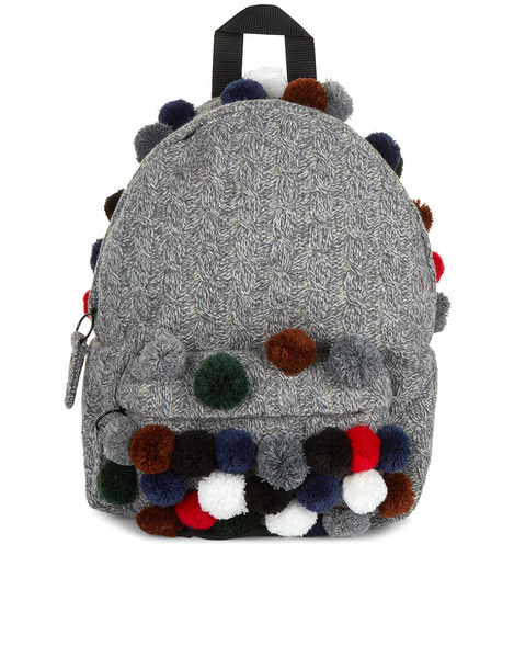 knit backpack grey