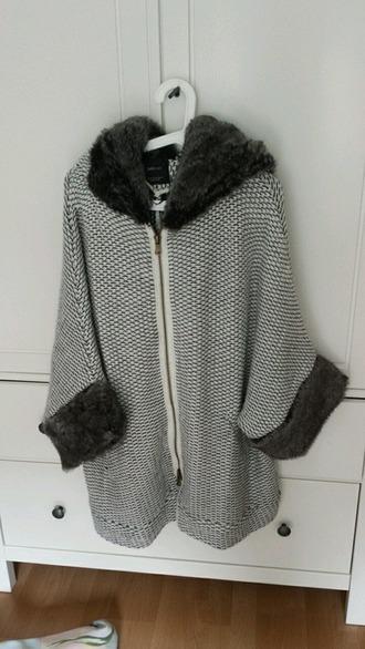 cardigan oversized oversize fur faux fur