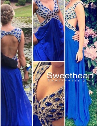 dress prom dress prom gown blue dress sexy dress cross over dress sequin dress