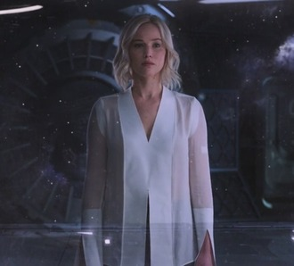 blouse white blouse shirt white passengers jennifer lawrence aurora scene movie