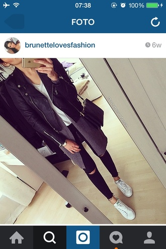 jacket black black leather black jacket black leather jacket cardigan jeans