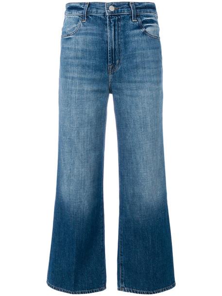 J BRAND jeans cropped women cotton blue