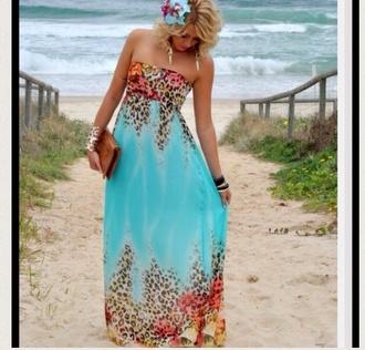 dress summer dress cheetah print floral blue dress bustier dress perfection maxi dress beach dress emerald dress emerald green dress emerald green emerald long sleeve dress lo