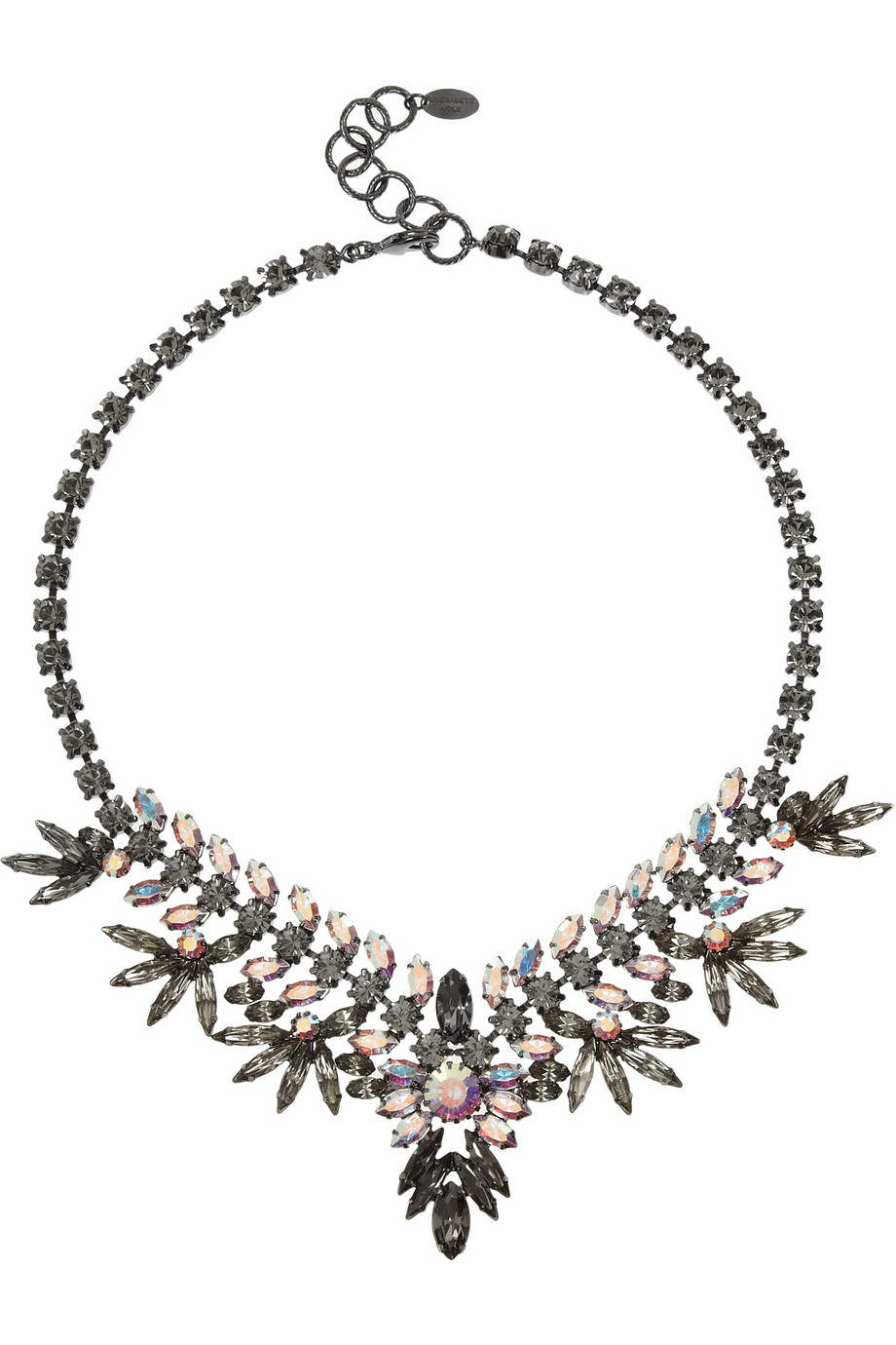 Northstar hematite-plated crystal necklace | THE OUTNET