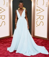 dress,lupita nyong'o,oscars 2014,light blue dress,need it now
