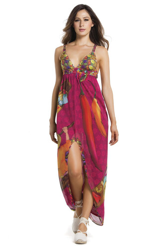 dress printed fabric agua bendita luxury designer bikiniluxe beach dress multicolor maxi dress summer dress