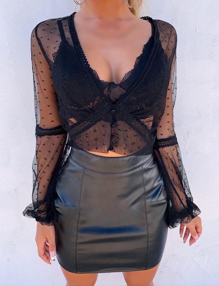 Nancy Top - Black - S BLACK