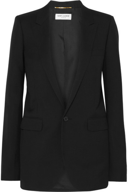 Saint Laurent blazer black wool jacket