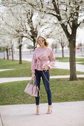 ivory lane,blogger,top,jeans,shoes,sunglasses,bag