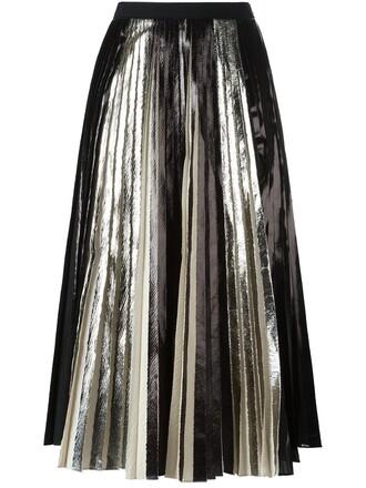 skirt pleated skirt metallic pleated skirt pleated metallic black