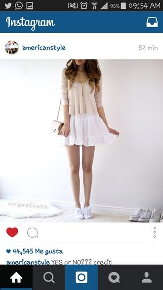 skirt white skirt mini skirt