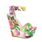 Boutique fashion - white floral design wedges