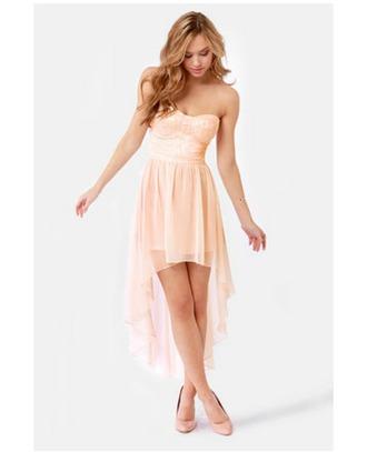 dress high-low dresses pink dress sequin dress