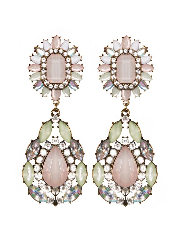 Statement earrings jewel drop earrings pink chandelier pink statement earrings jewel drop earrings pink chandelier earrings 22 mozeypictures Choice Image