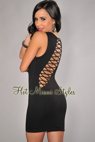 Black Open Cut-Out Dress