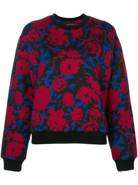 Etro - floral jacquard sweatshirt - women - Cotton/Polyamide/Polyester/Spandex/Elastane - 44, Red, Cotton/Polyamide/Polyester/Spandex/Elastane