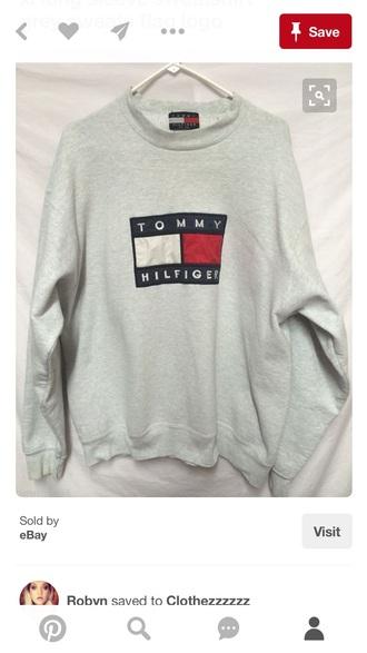 top pullover grey sweatshirt tommy hilfiger
