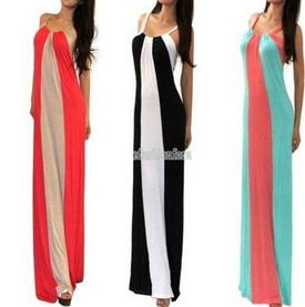 Striped Long Dress - Juicy Wardrobe