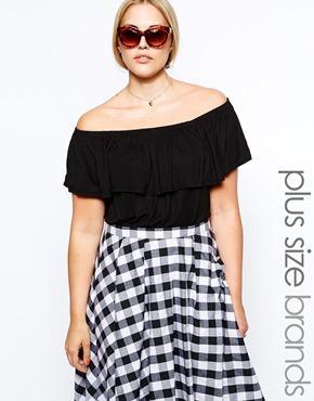 New look inspire bardot top at asos