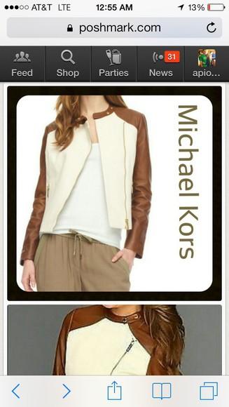 jacket motorcycle jacket leather jacket michael kors luggage