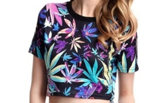 tank top t-shirt black t-shirt black multicolor weed weed shirt canabis leaf weed