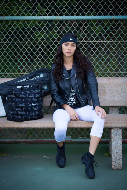 sweat the style blogger jacket tank top shoes bag