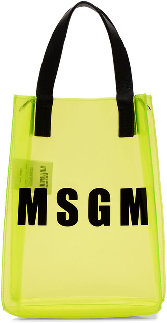 mini plastic vinyl yellow bag
