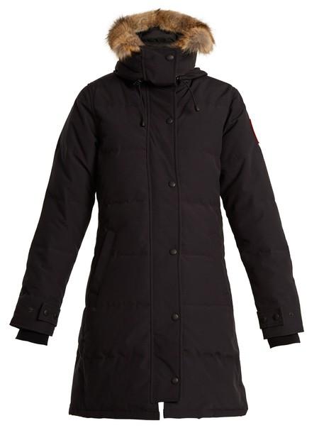 canada goose coat fur navy
