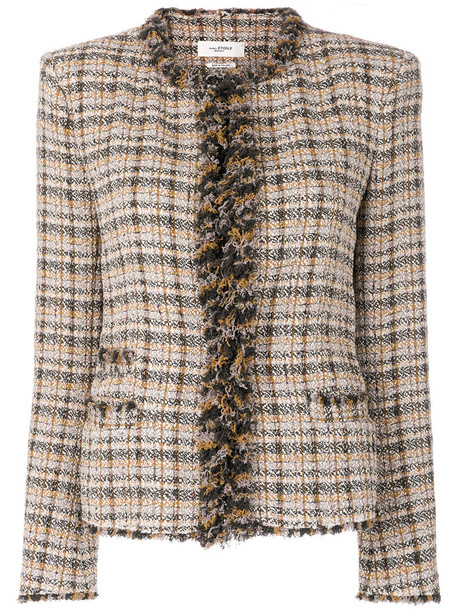 Isabel Marant Étoile - Nawell tweed jacket - women - Cotton/Viscose/Polyamide/Polyester - 36, Cotton/Viscose/Polyamide/Polyester