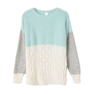 sweater grey pastel baby blue aqua blue