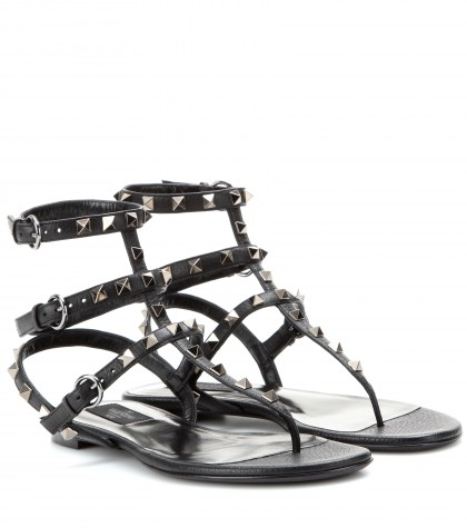 mytheresa.com -  Rocktsud leather sandals  - Flat - Sandals - Shoes - Luxury Fashion for Women / Designer clothing, shoes, bags