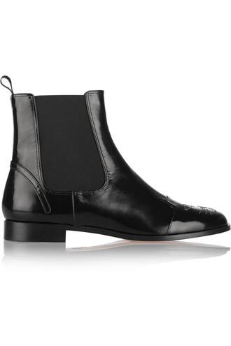 leather ankle boots cats boots ankle boots leather black shoes