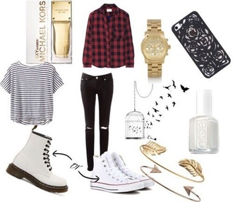 shirt plaid plaid shirt plaid skirt cute cute dress cute outfits tumblr tumblr outfit grudge tumblr grunge grunge grunge t-shirt grunge shoes grunge wishlist shoes boots rubber boots white white shoes large red plaid shirt white country fall outfits long sleeves watch